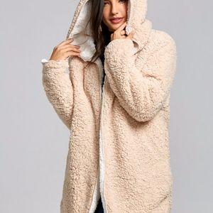 Reversible Fleece Hooded Coat
